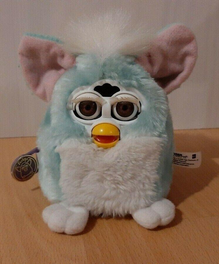 Baby Furby 1.Generation aus 2000 super Zustand seltene Farbe Glanzfell  NO.70-94