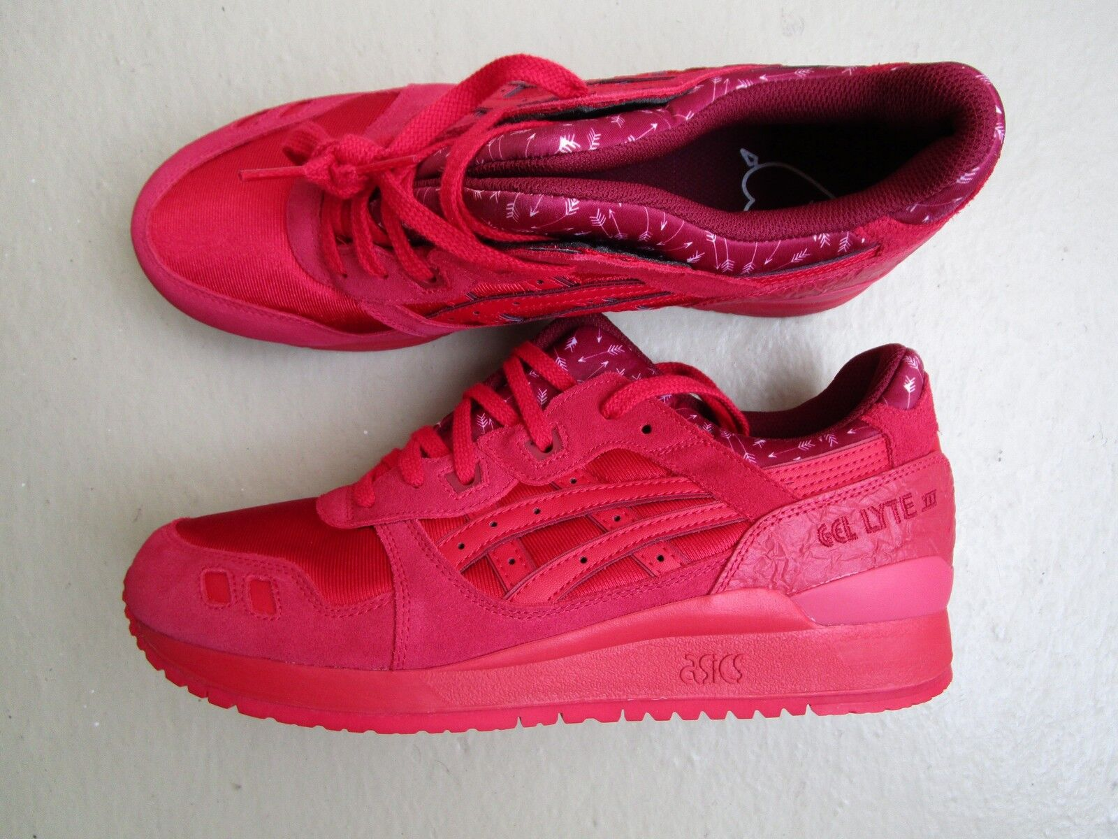 Asics Gel Lyte III 3 45  Valentine's Pack  Red Red