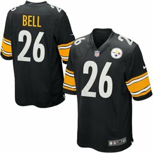 Nike Men's Le'veon Bell Pittsburgh Steelers Game Jersey Home Black NFL size M