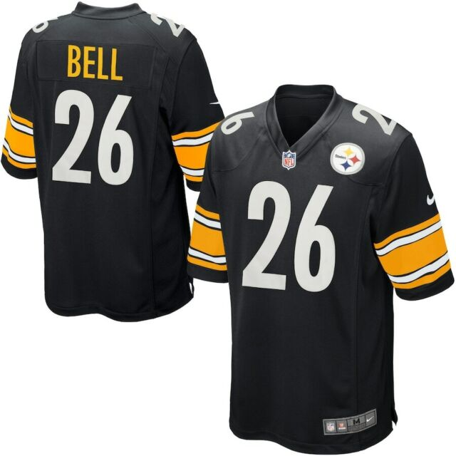 LeVeon Bell Pittsburgh Steelers 26 Game Jersey Black V-neck Nike NFL Size M