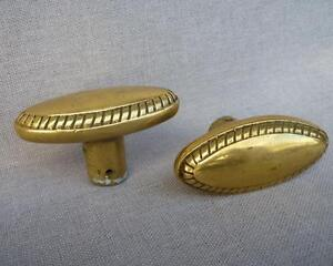 Antique-french-pair-of-door-handles-mid-1900-039-s-made-of-brass