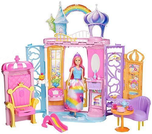 Mattel Barbie - Dreamtopia Regenbogen-Königreich Schloss und Puppe  | Rabatt