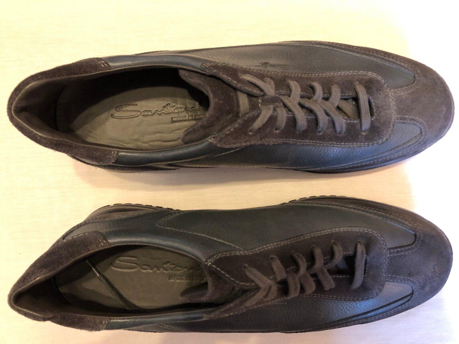 SANTONI - Men's Casual Leather Sneakers - BNWoB UK8   EU42