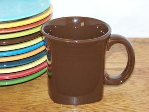 Fiesta-CHOCOLATE-13-oz-Square-Mug-Discontinued-Item-amp-Color