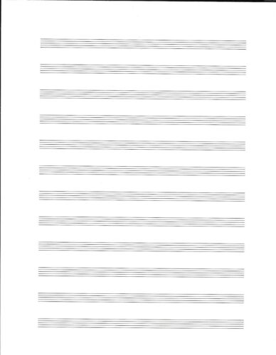 25 Sheets FREE Shipping! Blank 12 Stave Music Manuscript Sheets
