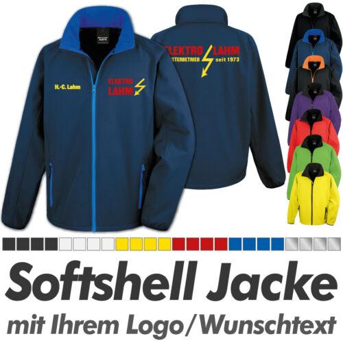 SOFTSHELL JACKE navy blau, inkl. Ihrem Wunschdruck Logo Druck Werbedruck