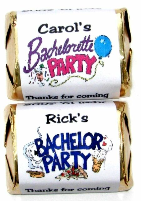 60 BACHELOR BACHELORETTE PARTY CANDY WRAPPERS FAVORS