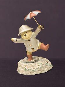 Disney Lenox Winnie the Pooh Singing in the Rain Porcelain Figurine NEW