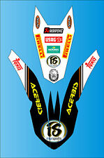 2007-2011 KTM EXC SX SX-F XC XC-F FENDER GRAPHICS DECALS STICKERS