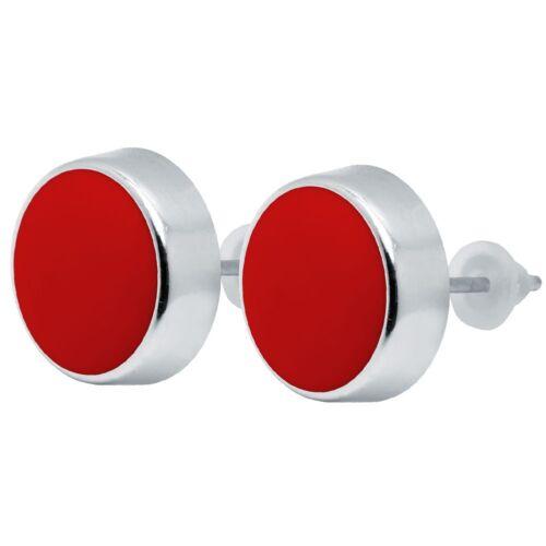1 pares aproximadamente pendientes acrílico blanco negro rojo de acero inoxidable rockabilly
