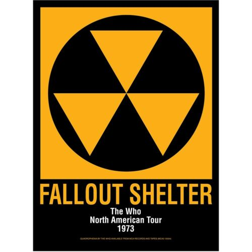 # 4 FALL OUT SHELTER VINTAGE STYLE POSTER A3//A4 Size
