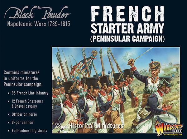 Francés Básico Ejército Peninsular - negro Powder - Warlords Games