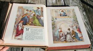 antique-c1920-Catholic-German-family-New-Testament-Bible-heavily-illustrated