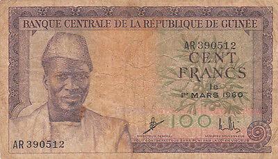Billet Banque Guinee Guinea 100 Frs 1960 état Voir Scan 512 Om Geavanceerde Technologie Te Adopteren