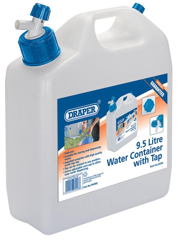 Echt Draper 9.5L Wasserbehälter mit Hahn