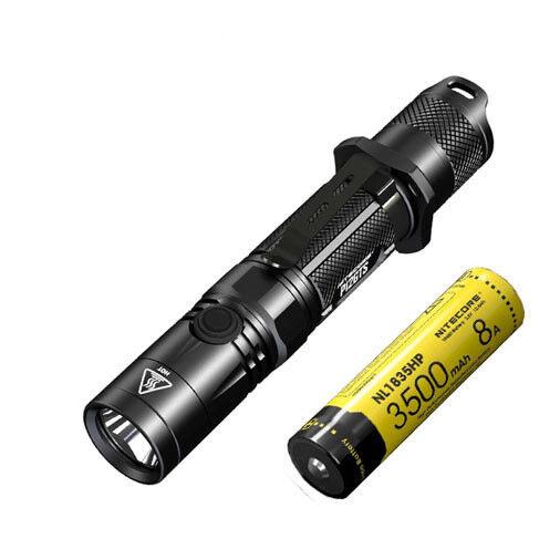 Nitecore P12GTS Flashlight -XHP35 HD LED -1800 Lumens w NL1835HP 18650 Battery