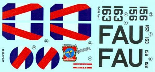 LF Models Decals 1//144 NORTH AMERICAN B-25H MITCHELL Bomber over Uruguay Part 2