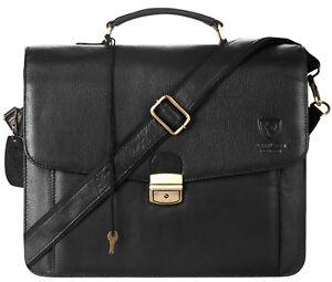 5256947bfffa Details about Mens Leather Laptop Bag Designer Ladies Shoulder Cross Body  Work Messenger Case