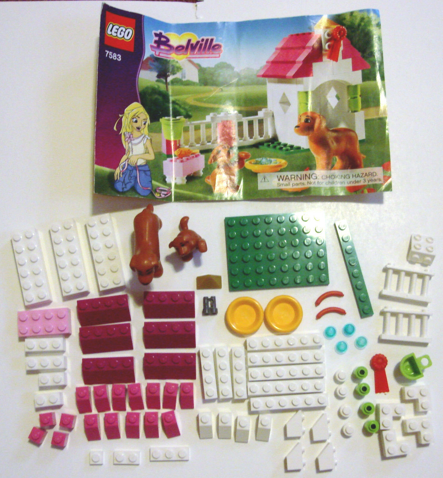 Lego Belville 7583 Playful Puppy Dog House Set Instructions Retired