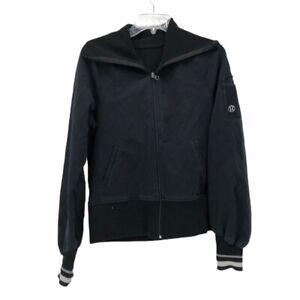 Lululemon-Womens-Jacket-Coat-Black-Zip-Up-Pockets-Long-Sleeve-6