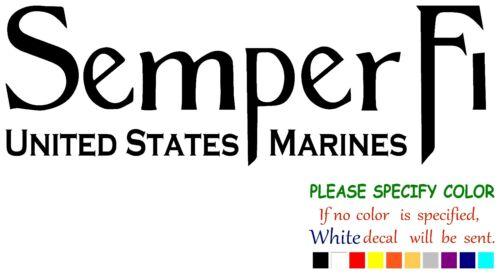 "Semper Fi USMC #1 Funny Vinyl Decal Sticker Car Window laptop tablet truck 7/"""