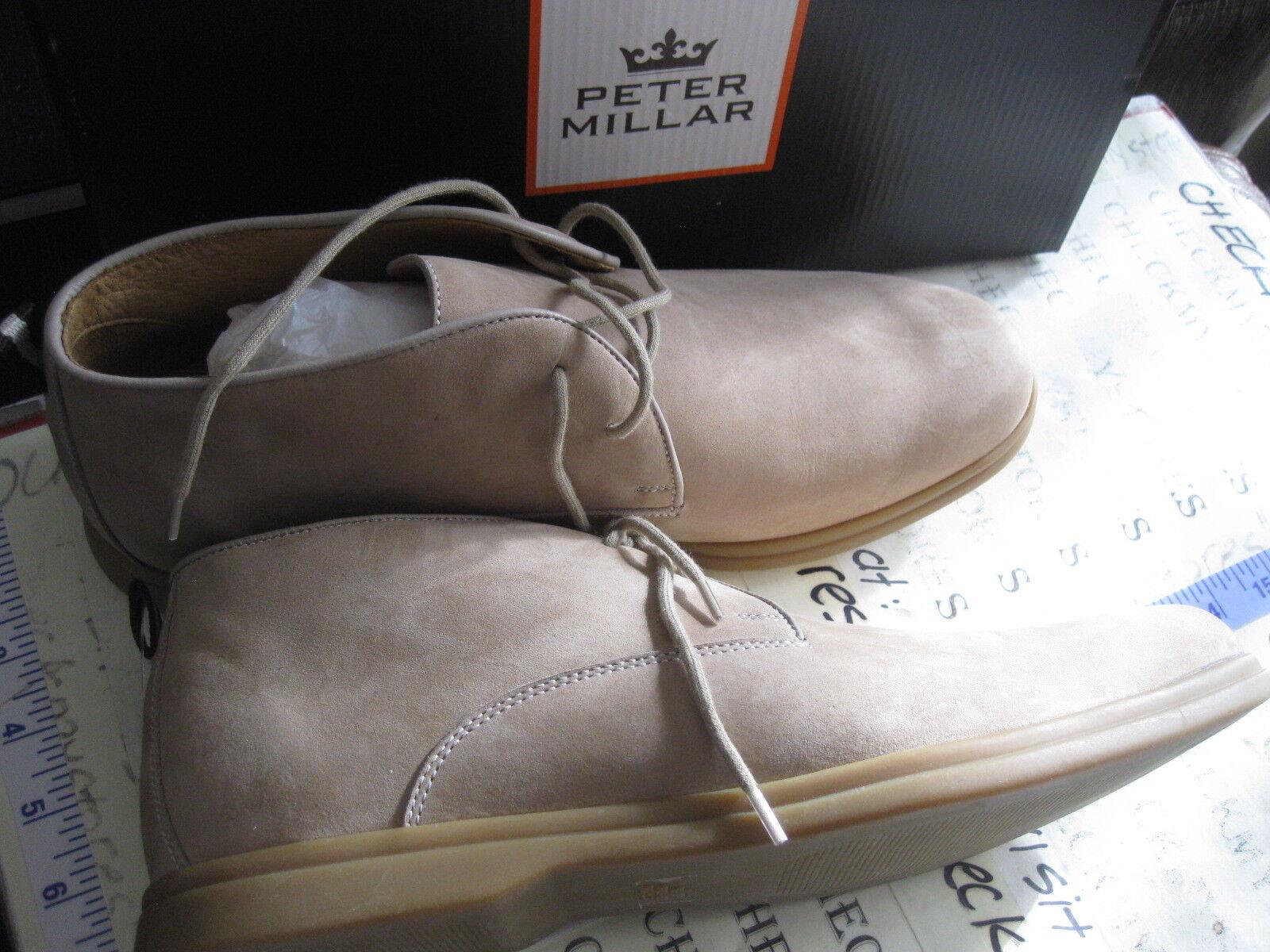 Nuevo  PETER MILLAR ms16f03 para hombre de cuero nobuck Chukka botas hecho Brasil