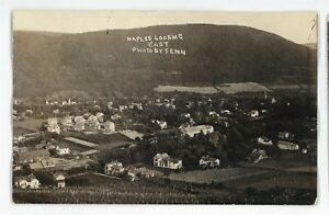 RPPC-Aerial-View-Looking-East-NAPLES-NY-Finger-Lakes-Ontario-Real-Photo-Postcard