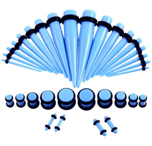 36pcs Acrylic Ear Tapers Ear Kit Stretcher Ear Plugs Gauges Piercings 1.6mm-10mm