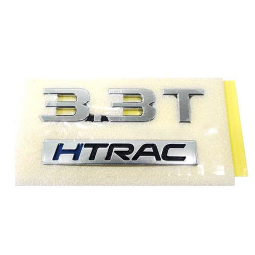 OEM Genuine Parts 3.3T HTRAC Logo Emblem Badge for HYUNDAI 2015-2018 Genesis G80