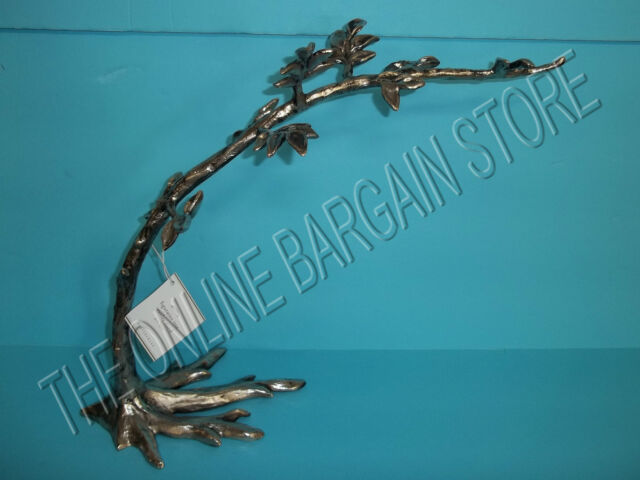 Pottery Barn Figurative Silver Tree Branch Jewelry Stand Holder Necklace Box For Sale Online