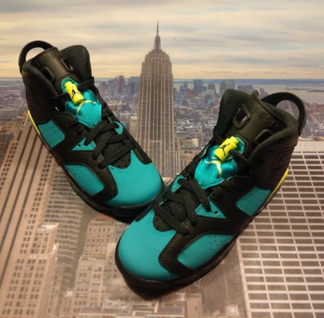 c92d3b5678d66a Nike Air Jordan VI 6 Retro Turbo Green GS Grade School Size 3.5Y 543390 043