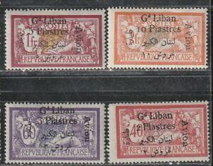 1924 Colonie Française Timbres, Liban, Air Set Complet Mh, Sc C5-8-afficher Le Titre D'origine