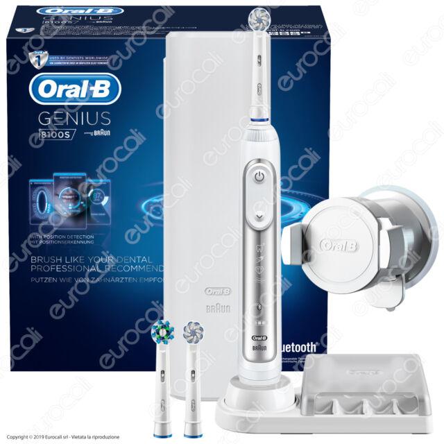 Oral B Genius 8100S Spazzolino Elettrico Ricaricabile Braun Bluetooth Timer App