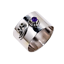 Ladies-Brilliant-Cut-Purple-Amethyst-Solitaire-925-Sterling-Silver-Band-Ring thumbnail 1