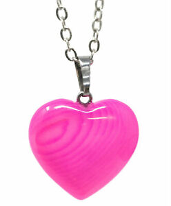 """Pink Sterling Silver 3/4 ct TGW Pink Natural Heart Pendant Necklace 18"""""""