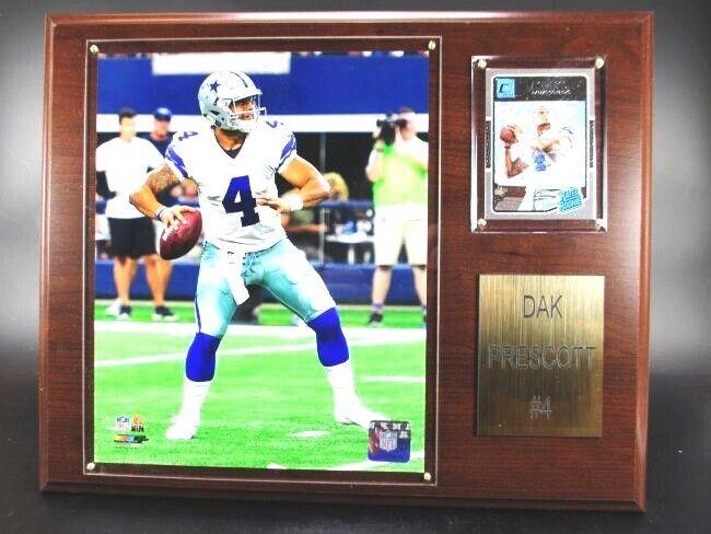 DAK PRESCOTT Dallas Cowboys Wood Wall Picture 15In, Plaque NFL Football