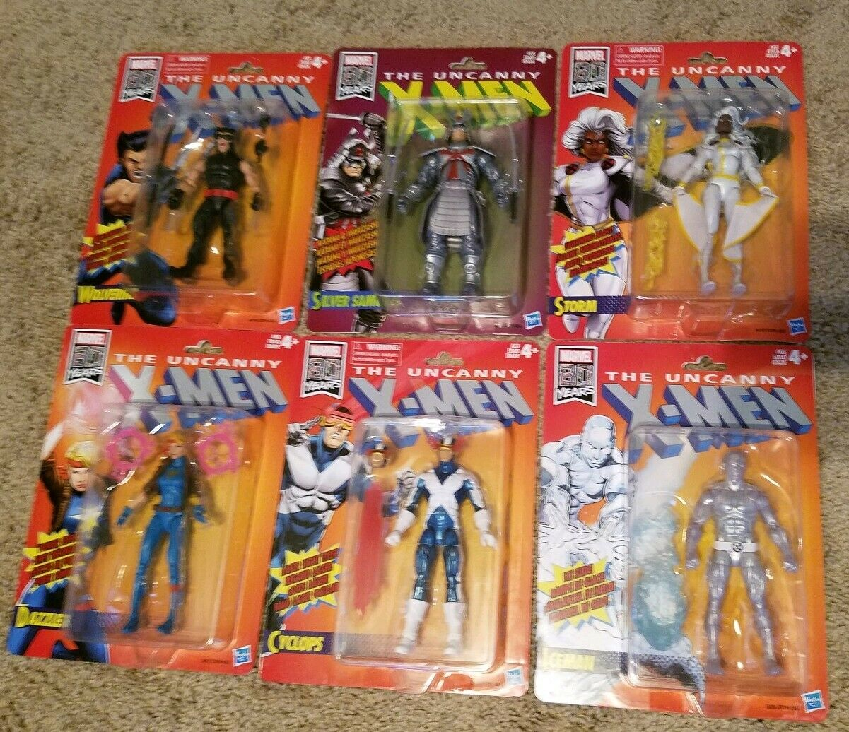 Marvel Legends Uncanny Xessi Retro 6 cifra set