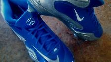 NEW MENS NIKE FOOTBALL CLEATS / BABY BLUE,WHITE,SILVER/SIZE 13.