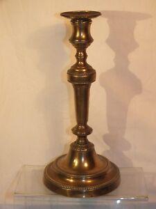 Bougeoir-ancien-en-bronze-19e-a-rangs-de-perle