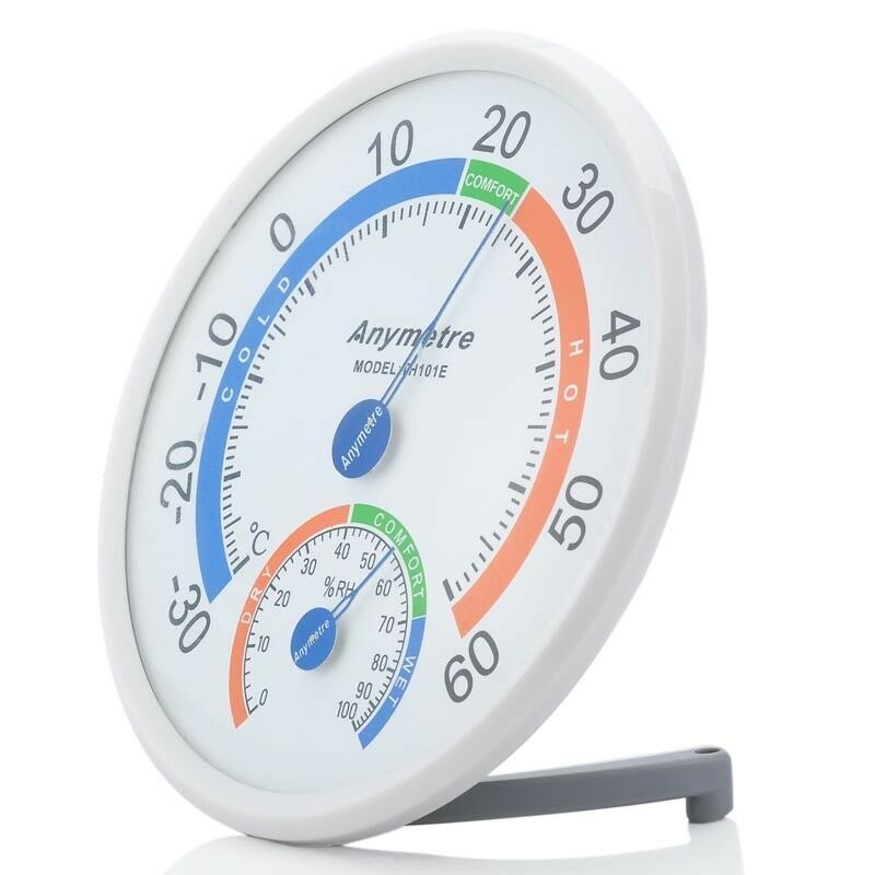 Tester Weather Meter Office Indoor Outdoor Wall Window Thermometer Hygrometer