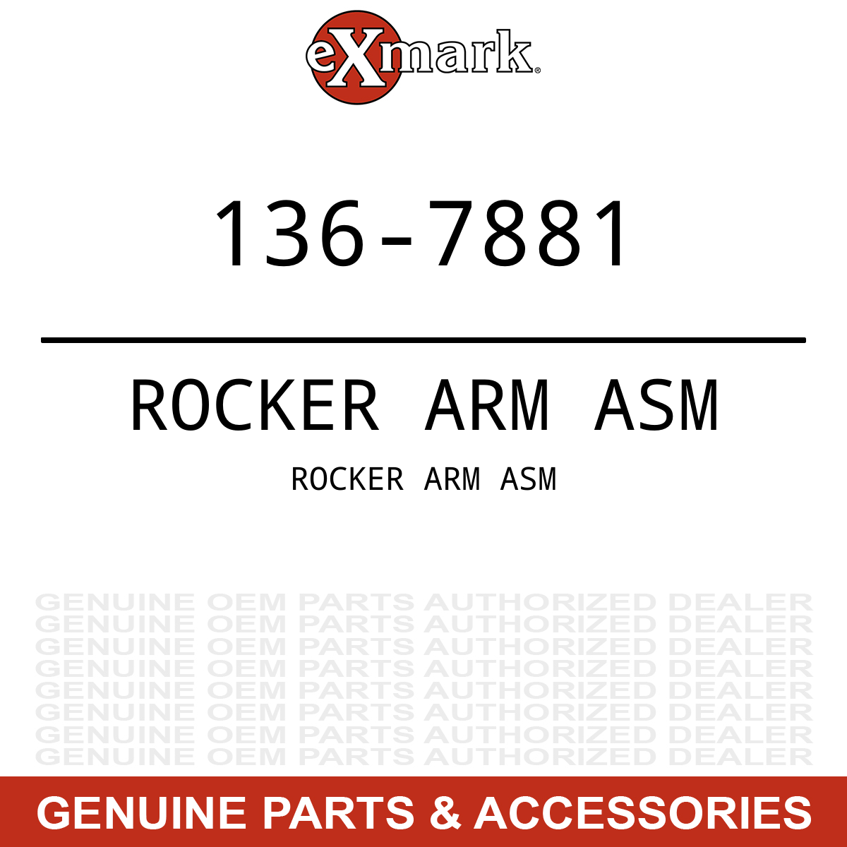 Exmark 126-6575 Logo Decal Quest ECS180CKA30000 Radius Staris E S Series