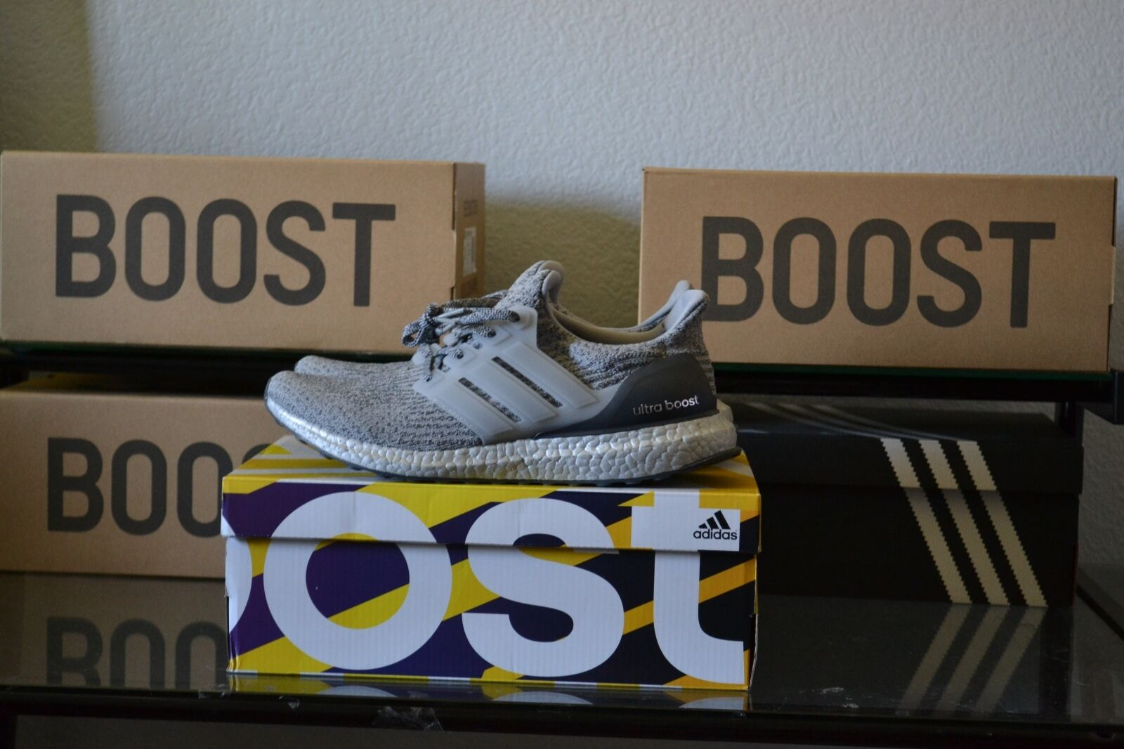 Adidas Ultra Boost LTD 3.0 Silver Pack Super Bowl DS Size 10.5