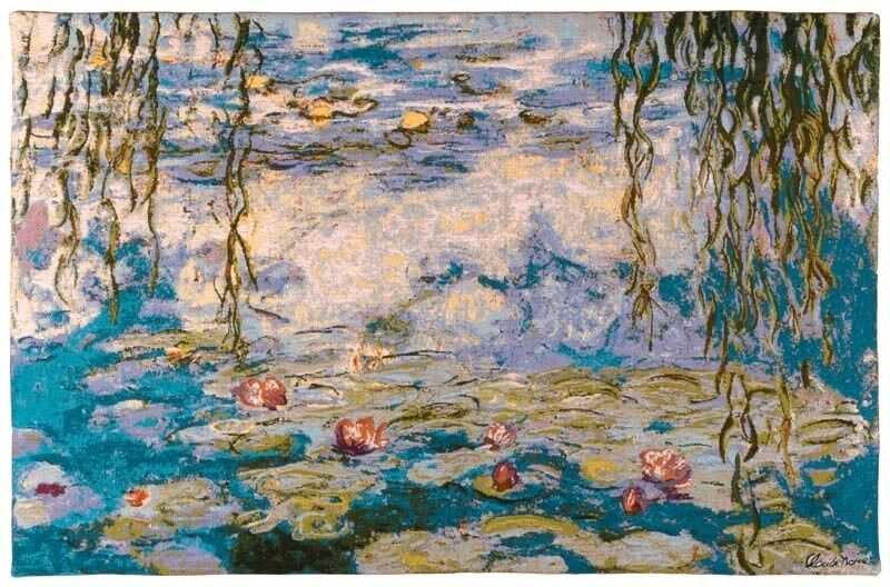CLAUDE MONET WATER LILLIES 60CM X 45CM FULLY LINED BELGIAN TAPESTRY WALL HANGING