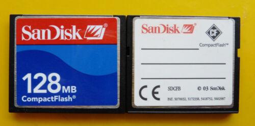 128 128mb 128 MB SANDISK CompactFlash CF Tipo I Compact Flash SDCFB