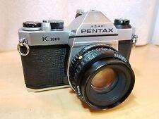 Asahi Pentax K1000 35mm SLR Camera NEW SEALS, w/ SMC Pentax-A 50mm 1:2 Lens