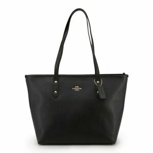 NWT Coach Women's Crossgrain Leather City Zip Tote (COACH F58846 IMBPK)