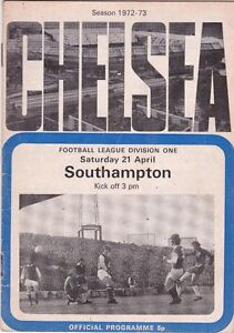 CHELSEA-V-SOUTHAMPTON-DIVISION-ONE-21-4-73