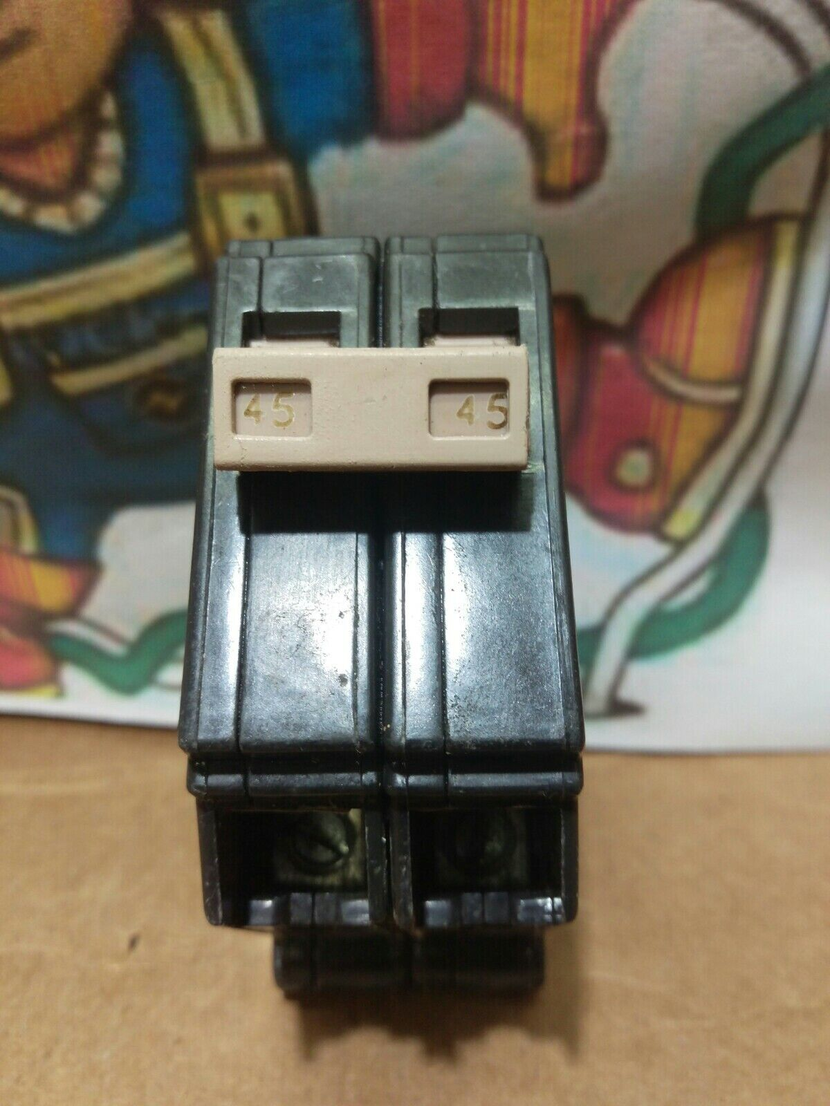 Cutler Hammer CH245 Double Pole 120V 45 Amp Plug-On Circuit Breaker