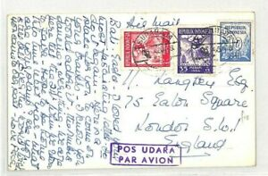 L'indonésie Surabaya * Bali Carte Postale * Gb London 1954 {samwells Couvre -} Cg147-rs} Cg147fr-fr Afficher Le Titre D'origine Les Clients D'Abord