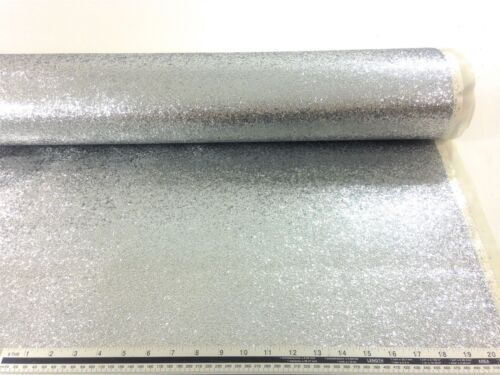 Chunky Glitter Silver High Quality Upholstery Fabric Material *3 Sizes*